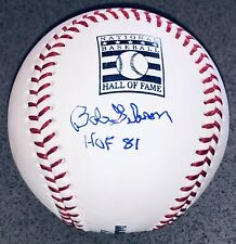 Bob Gibson signed St. Louis Cardinals autographed Hall Of Fame logo baseball JSA