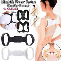 Unisex Adjustable Posture Corrector Support Back Shoulder Belt Strap Brace