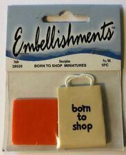 MINIATURE BORN TO SHOP Dimensional Embellishment(1pc)Shopping Bag•Doll Size•Mall