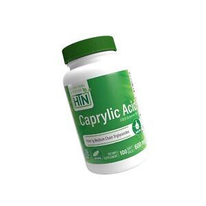 Caprylic Acid 600mg 100 softgels Non-GMO - NEW