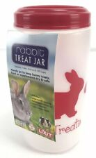 Pet Treat Jar Rabbit Large Mouth Plastic Container - 1 Liter - New