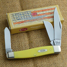 Case XX Jumbo Stockman Yellow Synthetic Handle Pocket Knife 00203 3375 CV