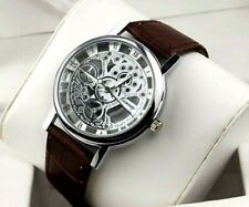 Luxury Men/Women Hollow Skeleton Quartz Mechanical Stainless Steel Wrist Watch