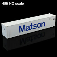 HO Scale 45ft Container Matson Shipping Container Freight Cars Model Railway