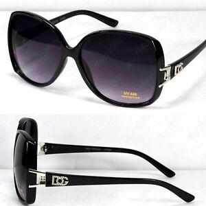 New WB Retro Vintage Womens Designer Sunglasses Shades Fashion Black Wrap Square