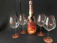 Moet Chandon Nectar Imperial Rose Champagner N.I.R. 1,5l 12% Vol + 4 NIR Gläser