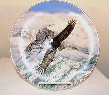 The Eagle Soars 1988 Hamilton Plate # 4781B original box 23k Gold Rim (8001)