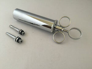 Ear Syringe with 2 Nozzles - 59,1 ML-Brass with Chrome Finish
