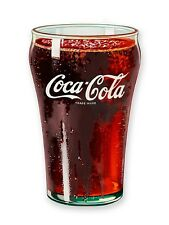 Coca Cola Glass chunky thick fridge magnet    (nm)