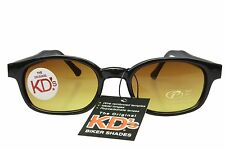 KD's Sunglasses Original Biker Shades Motorcycle Black Blue Blocker 21119