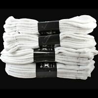 3 6 12 Pairs White Ankle Quarter Mens Womens Sports Cotton Socks Casual Athletic