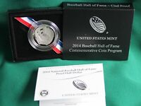 2014 S National Baseball Hall of Fame HALF DOLLAR Proof 50c Coin and OGP
