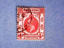 Hong Kong. KGV 1914 4c Scarlet. SG102a. Wmk Mult Crown CA. P14. Used