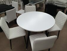 "Brand New ""Whitney"" Dining Table + Leather chair Warehouse Clearence"