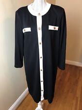 New listing Bedford Fair Dress Vintage Sheath Dress Button Front Sz 18
