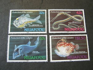 NIUAFO'OU  1989 FISHES of the DEEP  SET of 4 STAMPS  SG 113-116  MNH