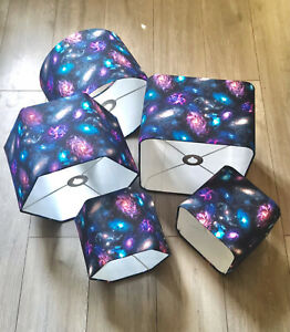 new HQ kids room close up galaxy sky stars IN SPACE lamp shade pendant shade