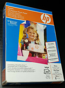 Genuine HP Premium Photo Paper Glossy (240 g/m2 10x15 cm) 100 Sheets (BRAND NEW)