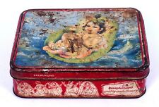 Collectible Old Decorative Usable Condition Advertisement Litho Tin Box. i2-54