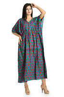 Cotton Kaftan Boho Hippy Plus Size Women Dress Indian Caftan Gown Beach Cover Up