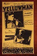 YELLOWMAN San Antonio TEXAS (1990) REGGAE Concert Flyer/Poster bob marley
