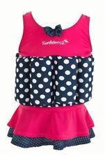 Konfidence Badeanzug Float Suit mit integriertem Auftrieb Pink Polka Skirt Schwi