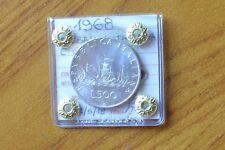 REPUBBLICA ITALIANA 500 LIRE CARAVELLE 1968 sigillata FDC SUBALPINA