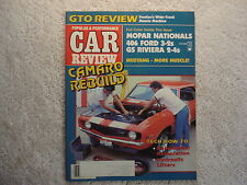 Muscle Car Review 1984 October 406 Ford GS Riviera Mustang GTO Camaro Cyclone