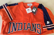 Cleveland Indians Med Starter Jersey MLB NWT Batting Practice Warmup Embroidered