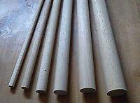 15cm Wooden Craft Sticks - Hardwood Dowels Poles CHOOSE QUANTITY & DIAMETER