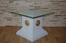 Glas Beistelltisch Telefon Tisch Blumen Deko Stand Säule Medusa Versa Serie