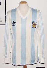 VINTAGE ARGENTINA 1991 ADIDAS LONG SLEEVE PLAYER SHIRT No.9