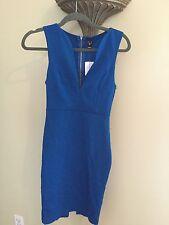 Windsor Royal Deep Blue Sweet Heart Knee Length Dress Size Small