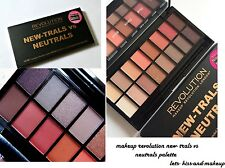 Makeup Revolution New-trals vs Neutrals Palette warm toned eye shadow palette
