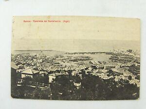 Vintage 1907 Panorama View of Fort Castellaccio, Genova Genoa Italy Postcard