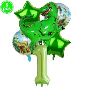 Kids Birthday Party Decor Dinosaur Theme Balloon Disposable Tableware Banner T