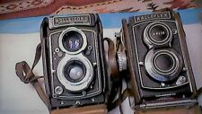 Vintage Cameras Rolliecord & Kalloflex 75Mm W/Leather Cases Great Condition