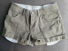 Ladies Khaki Green Shorts - Denim Co Size 8