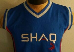 Shaquille o'neal Sleeveless Jersey Youth L Blue Red Grey From Shaq Originals