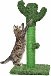 Cat Scratching Post with Natural Sisal Rope and Soft Plush Covered