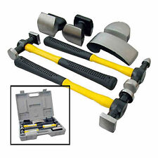 7pc Professional Hammer & Dolly Set Body Repair Set Panel Beating Dent Kit