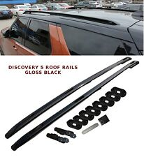 LAND ROVER DISCOVERY 5 LR5 ALUMINIUM ROOF RAILS BARS ROOF RACK BARS GLOSS BLACK
