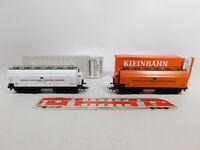 CO823-0,5# 2x Kleinbahn H0/DC 360 Großraumgüterwagen Tonerde ÖBB, sehr gut+OVP