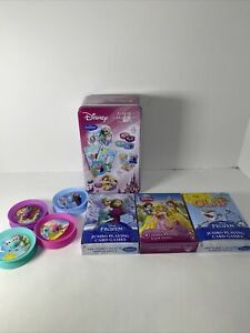 Disney Playing Card Games Superset PreOwned Complete Frozen Olaf Princess Tin