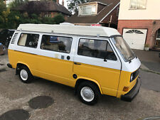 1980 Volkswagen T25 T3 Transporter Camper Van Motorhome 21,000 Miles From New!