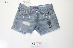 Levi's 557 Short Customized (cod. WB75) tg.41 W27 jeans Remake DONNA vintage