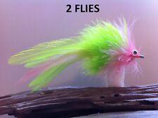 Seaducer/Deep Silhouette Fly Chartreuse/Pink 34007 #1/0 redfish tarpon striper