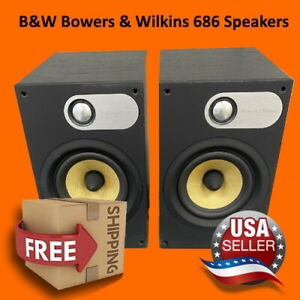 B&W - BOWERS AND WILKINS 686 BOOKSHELF SPEAKERS Pair - TESTED AND SOUNDS GREAT