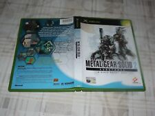 METAL GEAR SOLID 2 SUBSTANCE (MICROSOFT XBOX)