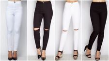 Slim, Skinny, Treggings Cotton High Rise Trousers for Women